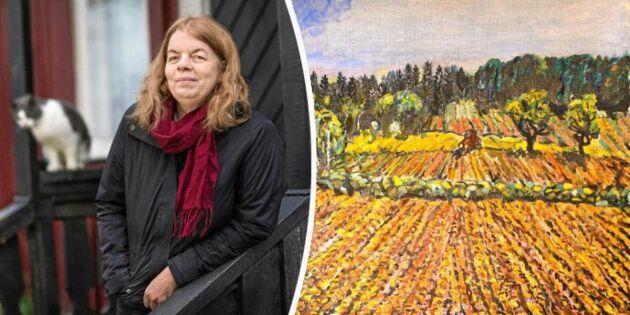 Konstnären Anette skildrar livet på landet – med färgsprakande målningar