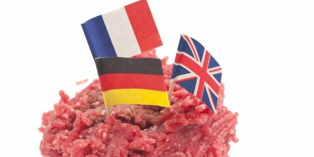 Chockrapport: Kött från 18 olika länder på restaurangmenyn