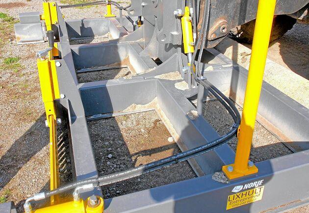 Justeringsbalkens utformning underlättar arbetet med att täppa igen potthål i vägbanan.
