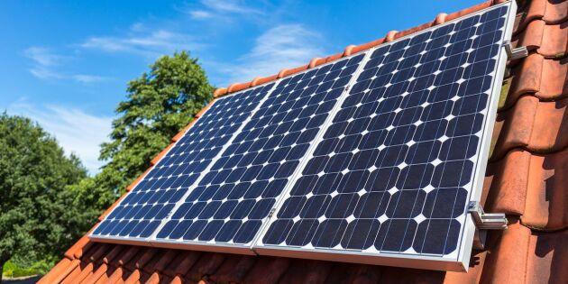 Statsbidrag för solceller halveras