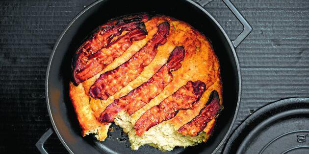 Kalljäst grytbröd med ost och bacon