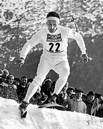 Var än han drog fram i spåren var han en vinnare, här VM i Innsbruck 1964.