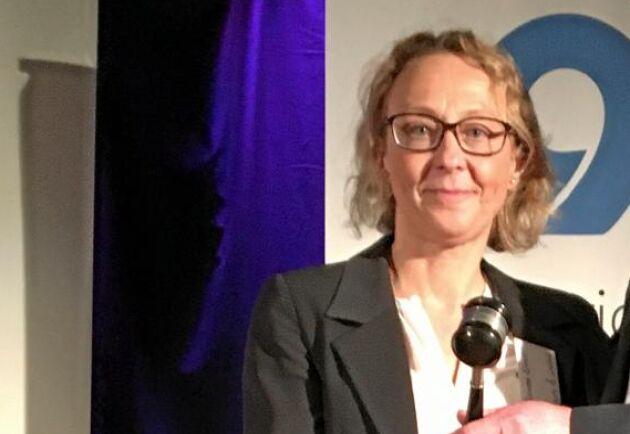 Jeanette Elander, ordförande för Sveriges Grisföretagare.