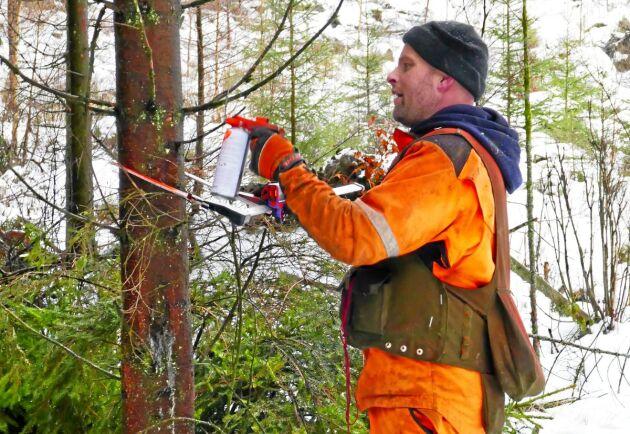 Johan Ardegård, skogsmästare på Hushållningssällskapet.