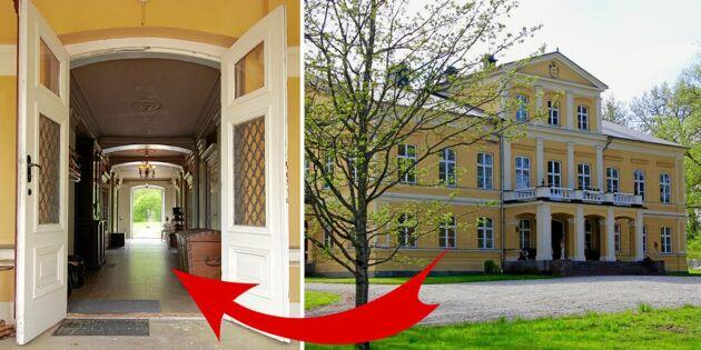 Kika in i praktfulla herrgården – unik svensk historia till salu