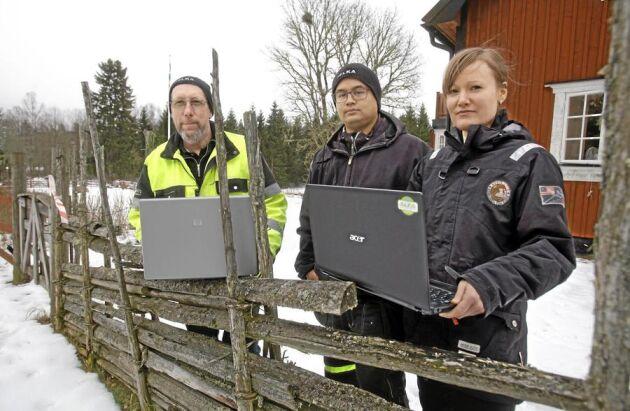 Dick Karlsson, Philip Karlsson och Camilla Karlsson.