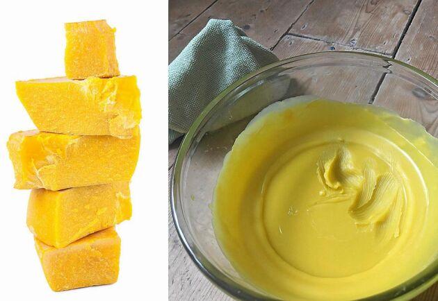 Honungsdoftande bivax blir lyxig möbelpolish.