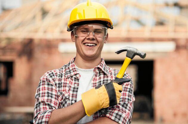 Byggnadssnickare är en eftertraktad grupp på arbetsmarknaden.