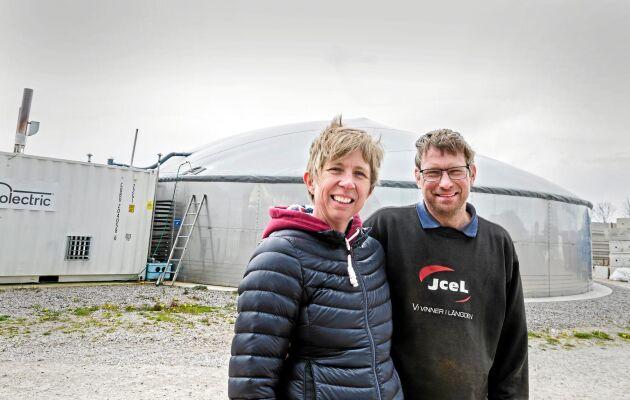 Annette och Jörgen Larsson satsade på biogasanläggning med egen rötkammare.