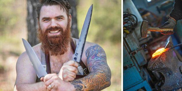 Jonas handsmider knivar som gör succé hos stjärnkockarna