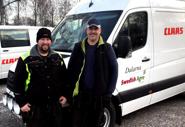 Servicetekniker Mats Eklund och säljare Fredrik Söderqvist väntas få fler arbetskamrater i Borlängetrakten när etableringen blir av.