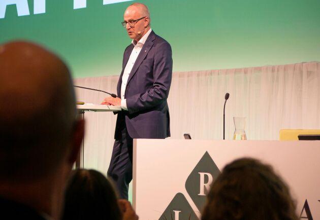 LRF:s ordförande Palle Borgström på stämman 2019.
