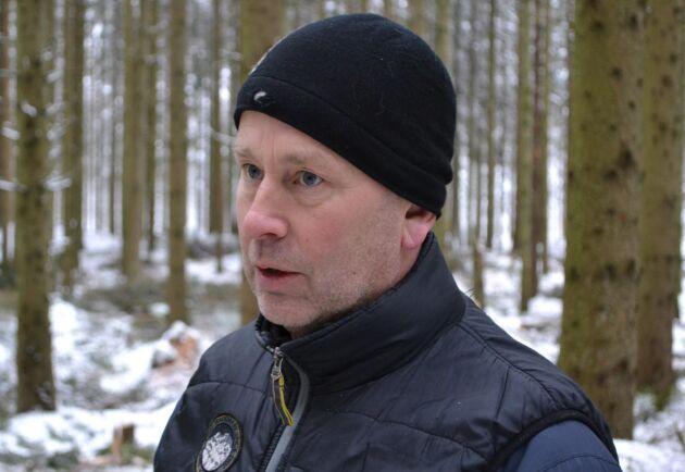 """""""Förr var skogsägarna på det klara med att gallring var skogsvård, nu ligger fokus på lönsamheten i åtgärden"""", säger Håkan Dunberg."""