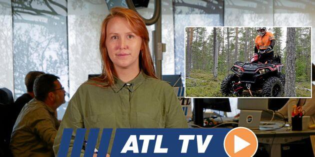 ATL TV: Ny skogsmaskin skördar och lastar