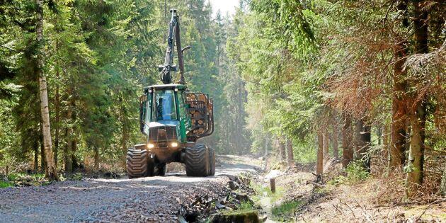 Gammalt gummi blir billig skogsväg