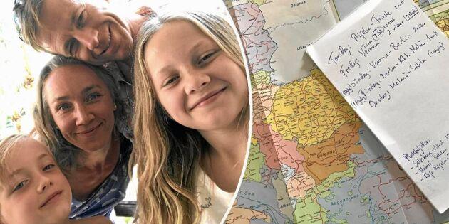 """Irmis familj testade att tågluffa i Europa: """"Bättre än charter"""""""