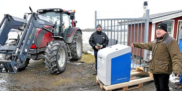 Går det att tanka med egen biogas i traktorn?