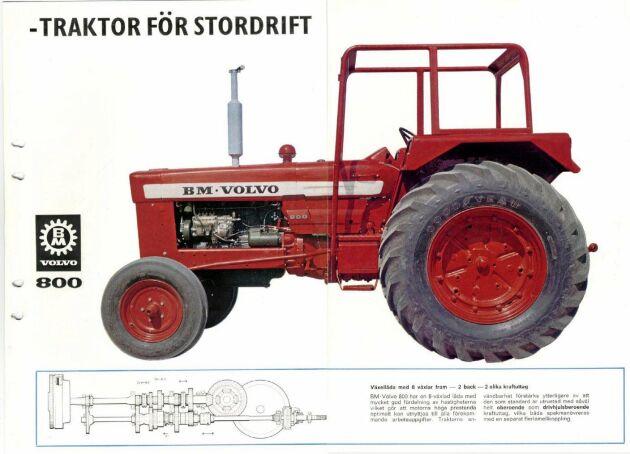 BM 800 var traktorn som de stora gårdarna kunde köpa utan att betala allt för mycket för styrkan. Så lanserades den nya modellen.