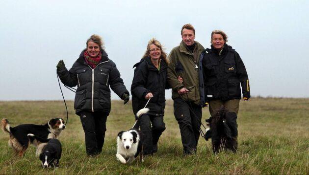 Åsa Ramberg, Karin Söderberg, Tomas Westman och Marianne Klima har alla får och leder projektet Den arbetande vallhunden.