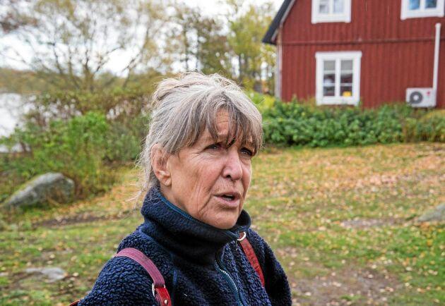 Lena Gribbe från Björkö har en mindre fårbesättning.