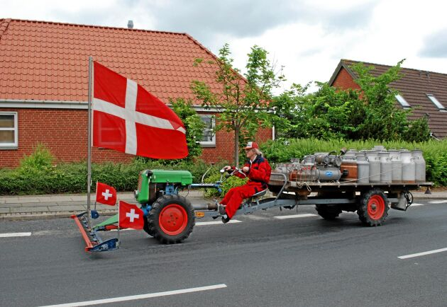 Vänner av tvåhjulstraktorer har en särskild plats i Gammeltraktorens Venners medlemsblad. Denna tvåhjulstraktor visades dock på en träff i Danmark.