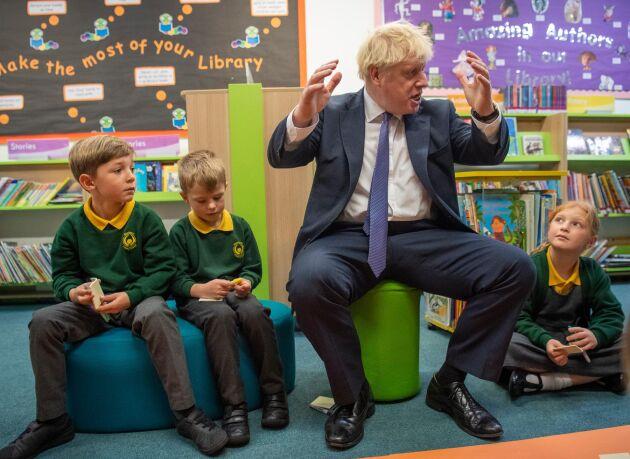 Boris Johnson, här vid ett besök på Middleton Primary School i Milton Keynes i fredags.