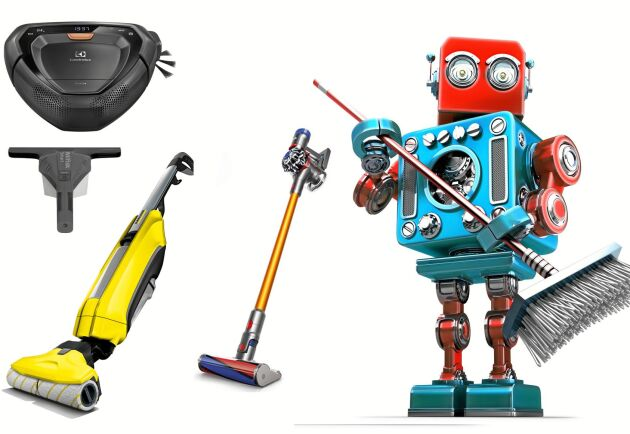 Den totala robotstädningen för hemmabruk finns inte än. Där emot har tillverkarna lagt ner mer kraft på att ersätta ditt hårda slit med smarta gnugg-maskiner. Foto: Istock.