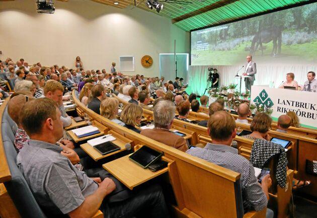 Välbesökt på Sånga Säby under stämman 2018. Men stämman 2021 blir som i fjol uppdelad på två versioner - en på våren och en på hösten, och det blir mer digitalt.