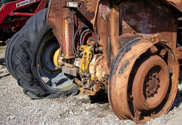 En del maskiner kommer via försäkringsbolag som löst in maskiner som brunnit.