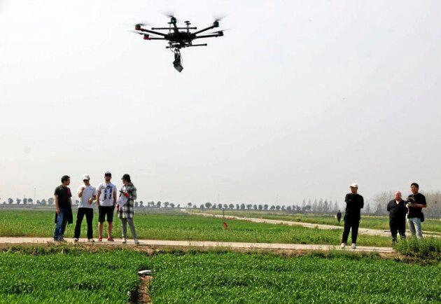 Nu ska drönare användas för att förbättra veteskördarna i Kina. Forskningen görs av brittiska Earlham Institute och Nanjings lantbruksuniversitet.
