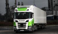 Etanoldriven Scania för tunga transporter