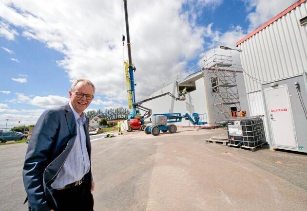 Hans Berggren, VD på Lyckeby Starch, menar att produktionen just nu är mer begränsad av tillgången på stärkelsepotatis än av efterfrågan.