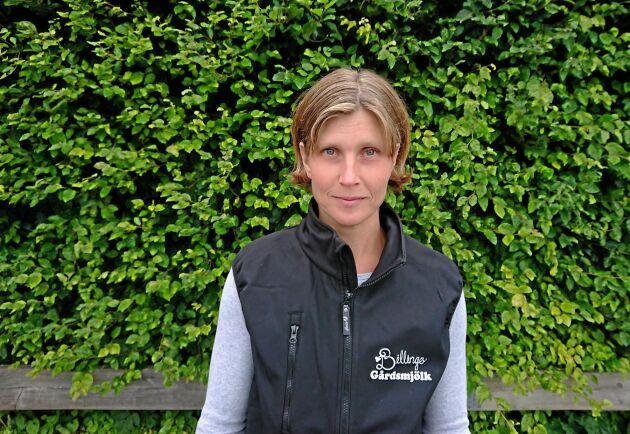 Anette Gustawson, mjölkbonde, Billinge gård.