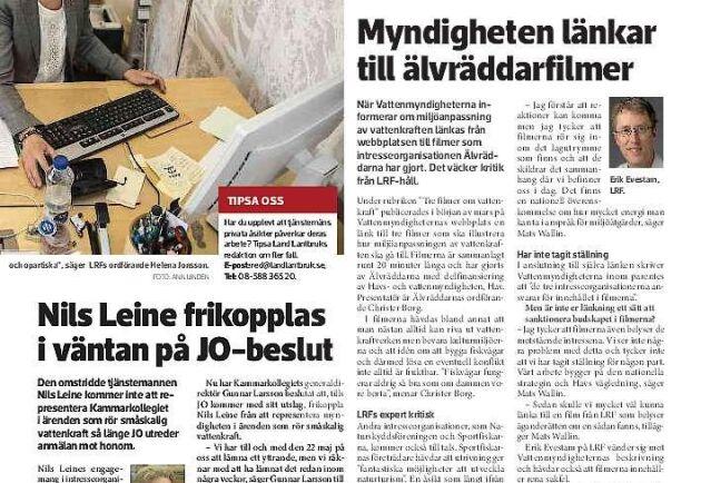 Land Lantbruk har i flera artiklar bevakat JO-utredningen kring Nils Leine.
