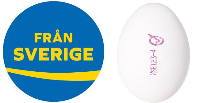 Titta efter Från Sverige-märket och den rosa stämpeln med producentkoden så kan du vara säker på att få svenska ägg, svarar Marie Lönneskog Hogstadius.
