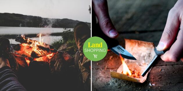 Tändstål och kniv en oslagbar kombo – få fyr på brasan oavsett väder