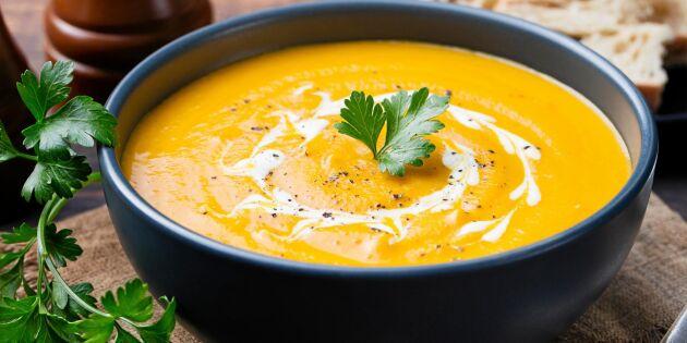 Krämig morotssoppa med grädde