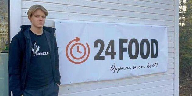 15-årige Jack öppnar två obemannade matbutiker på landsbygden