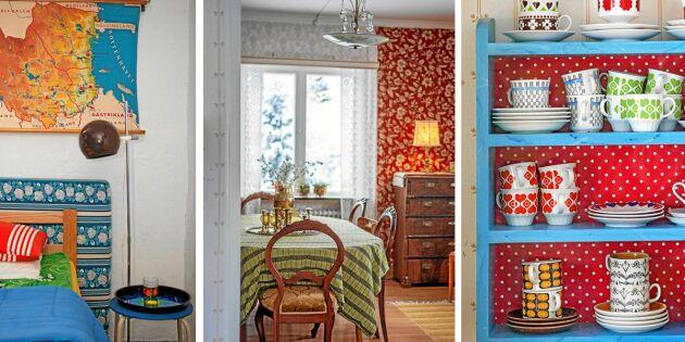 Härlig inspiration – 3 färgglada retropärlor till hem!