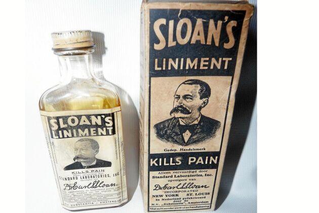 Sloan´s liniment är ett gammeldags preparat.