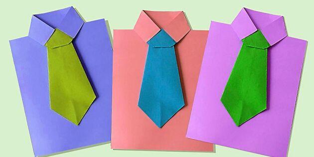 Så viker du ett snyggt slipskort