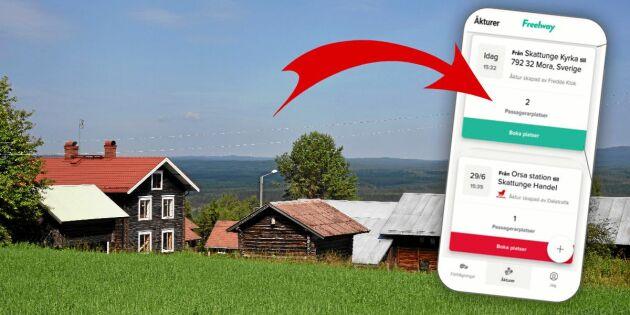 Ny app ska förbättra resandet i bygden