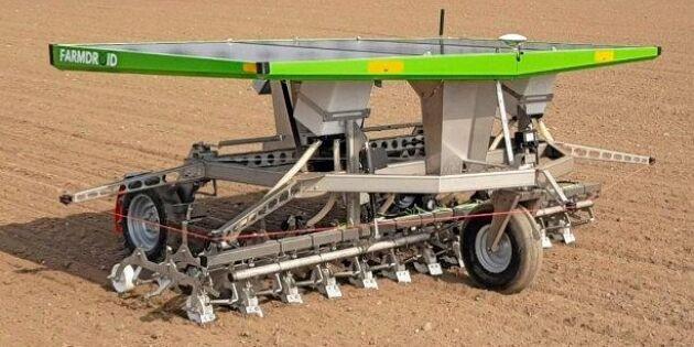 Roboten som både kan så och ogräsbekämpa