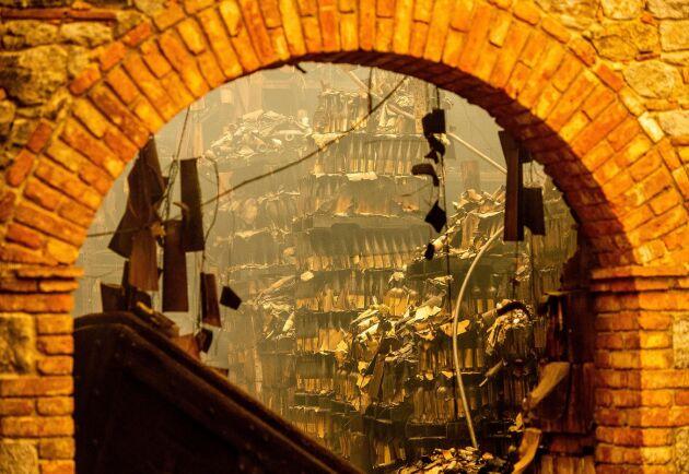 Castello di Amorosa fick stora skador i Glass-branden.