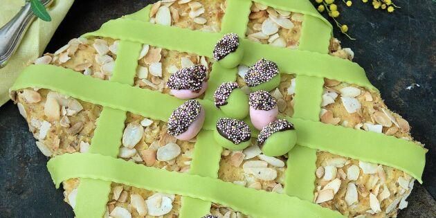 Påskens smarrigaste – mandeltårta med nougatkräm