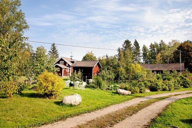 Det uppländska landskapet kring Sunnansjögård, Heby