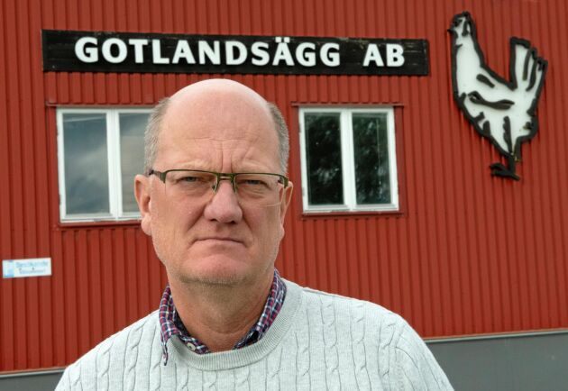 Magnus Bolin på Gotlandsägg är rädd att de höjda fraktpriserna ska sänka näringslivet på Gotland.