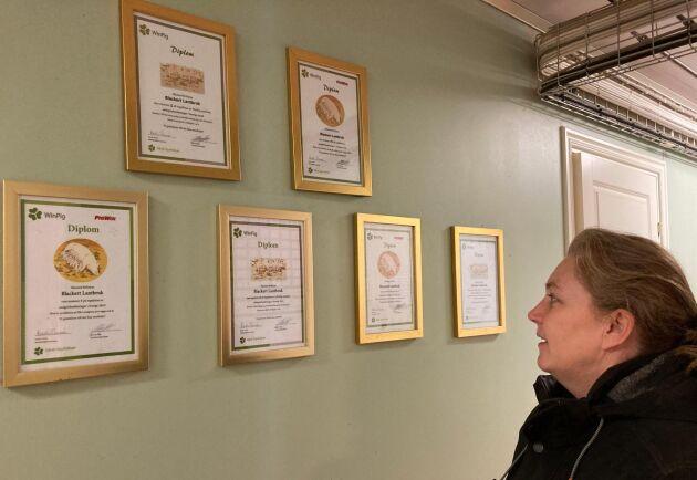 Diplom som sporrar. Blackert Lantbruk hör till den bästa 10-procentaren av svenska grisgårdar. En sporre och hela tiden får teamet att vässa sig, tycker Jeanette Blackert.