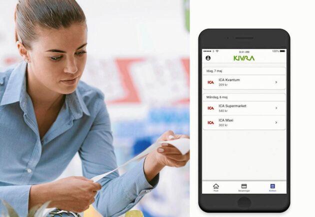 Papperskvitton snart ett minne blott? Nu införs digitala kvitton i Icas butiker.