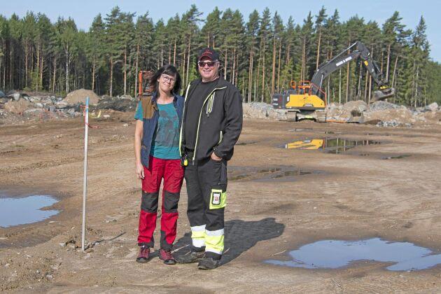 Anette och Per Henningsson har tre anställda som kan hjälpa till vid omgångsbytet.